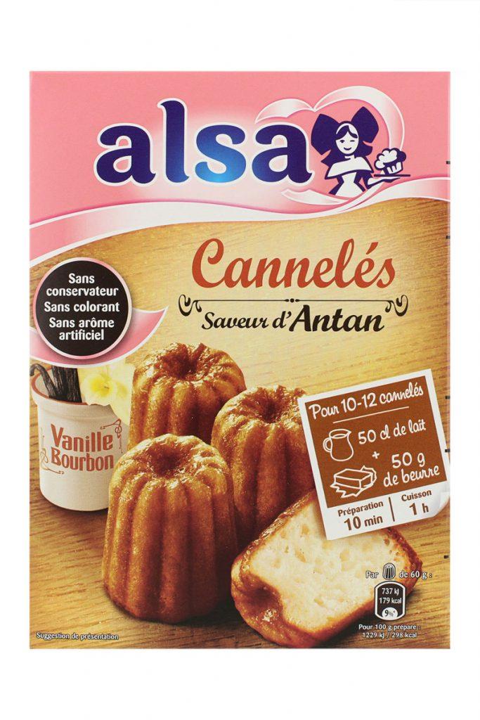 Alsa préparation cannelés vanille bourbon saveur d'antan
