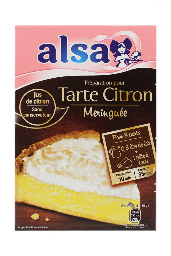 Alsa préparation de tarte citron meringuée