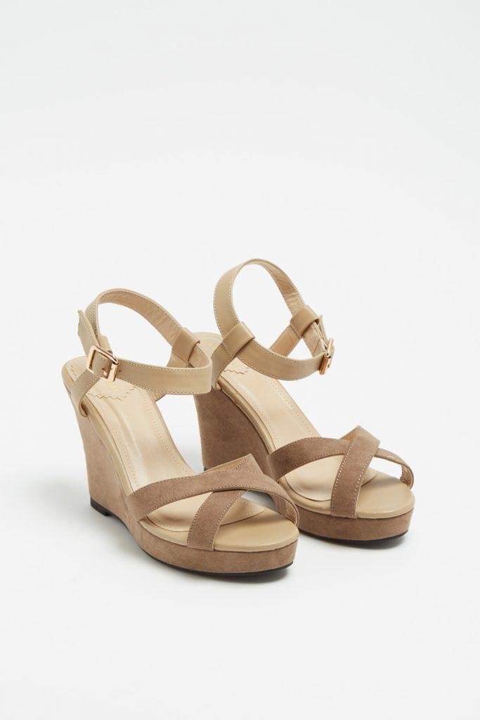 Camaïeu sandales compensées