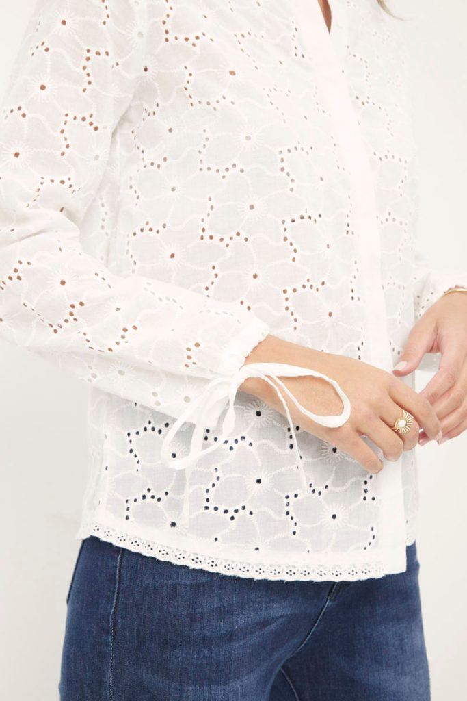 collectionIRL chemise broderie anglaise