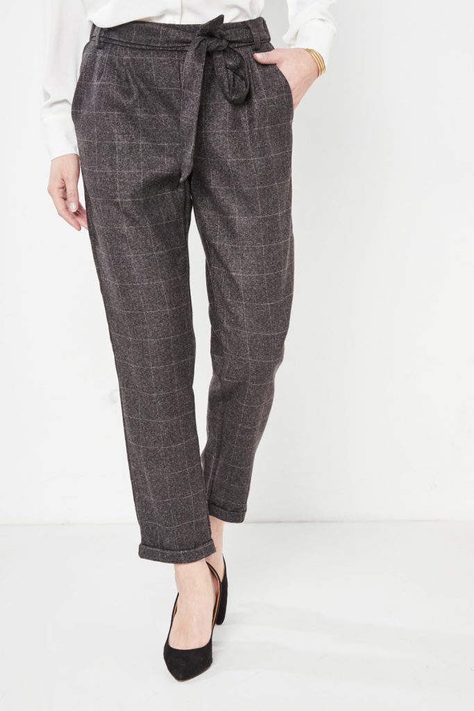collectionIRL pantalon carotte carreaux