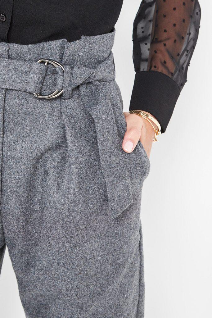 collectionIRL pantalon carotte en laine mélangée