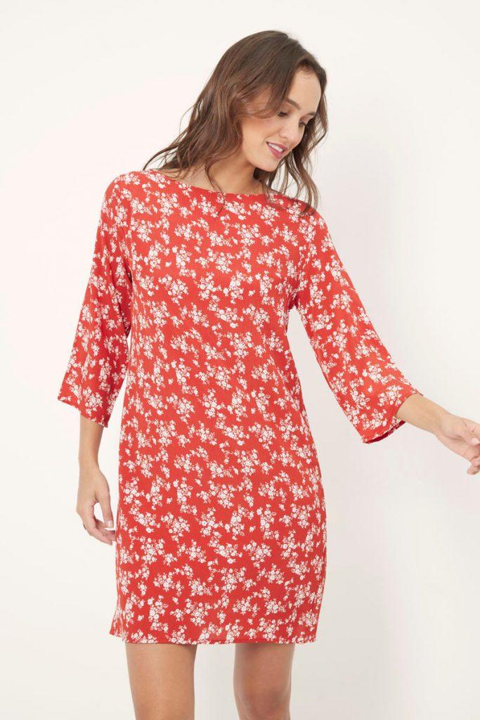 collectionIRL robe droite fleurie