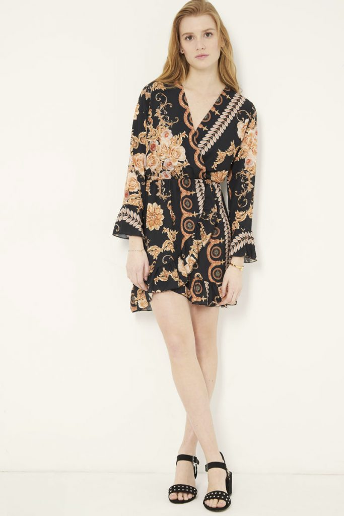 collectionIRL robe midi fleuri