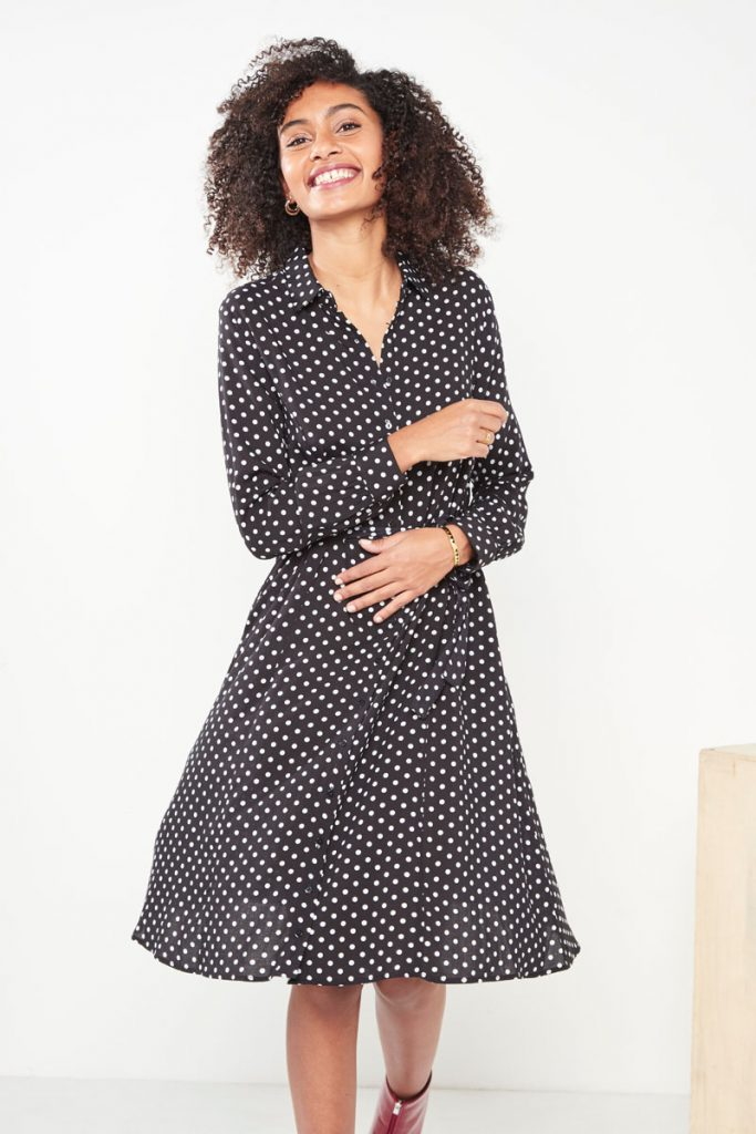 collectionIRL robe midi à pois