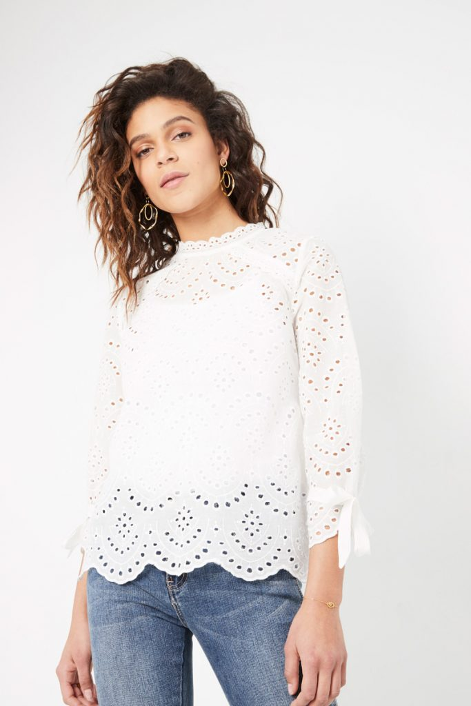 collectionIRL top broderie anglaise