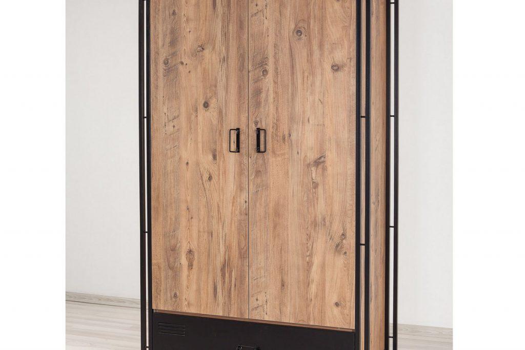 Design industriel armoire 2 portes