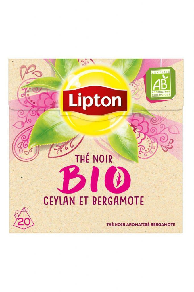 Lipton thé noir bio Ceylan & bergamote