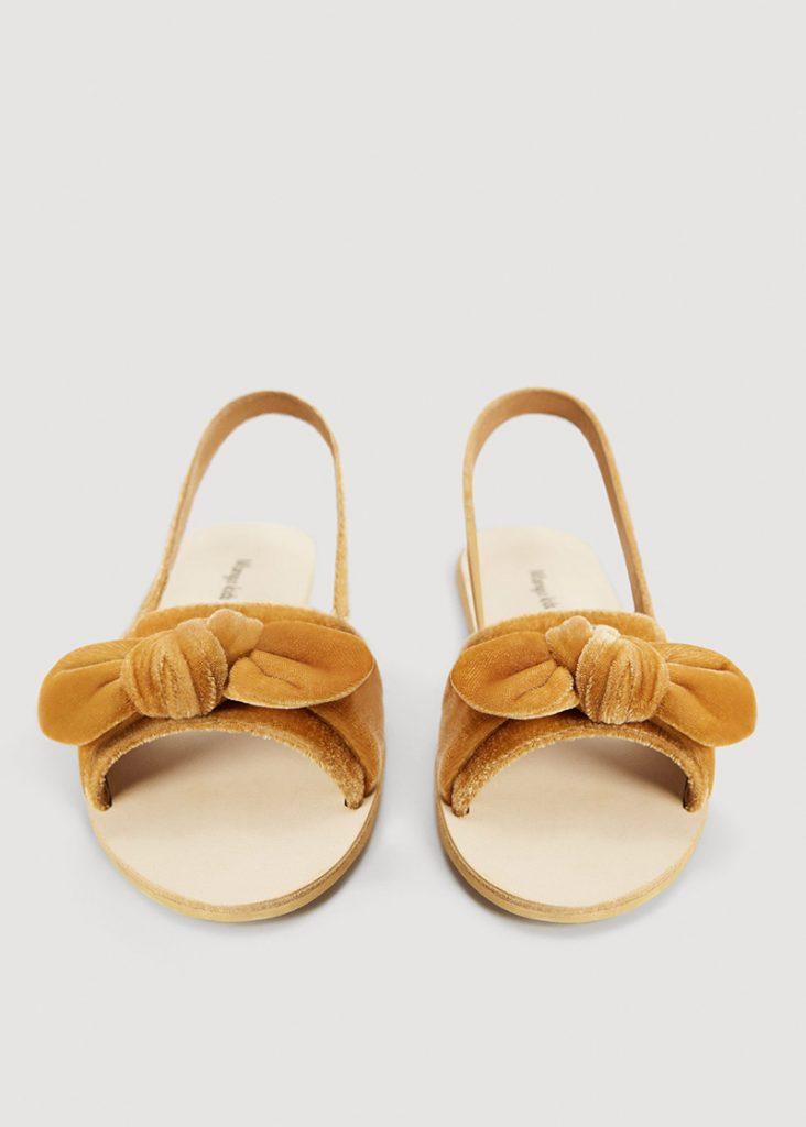 Mango Kids sandales en velours