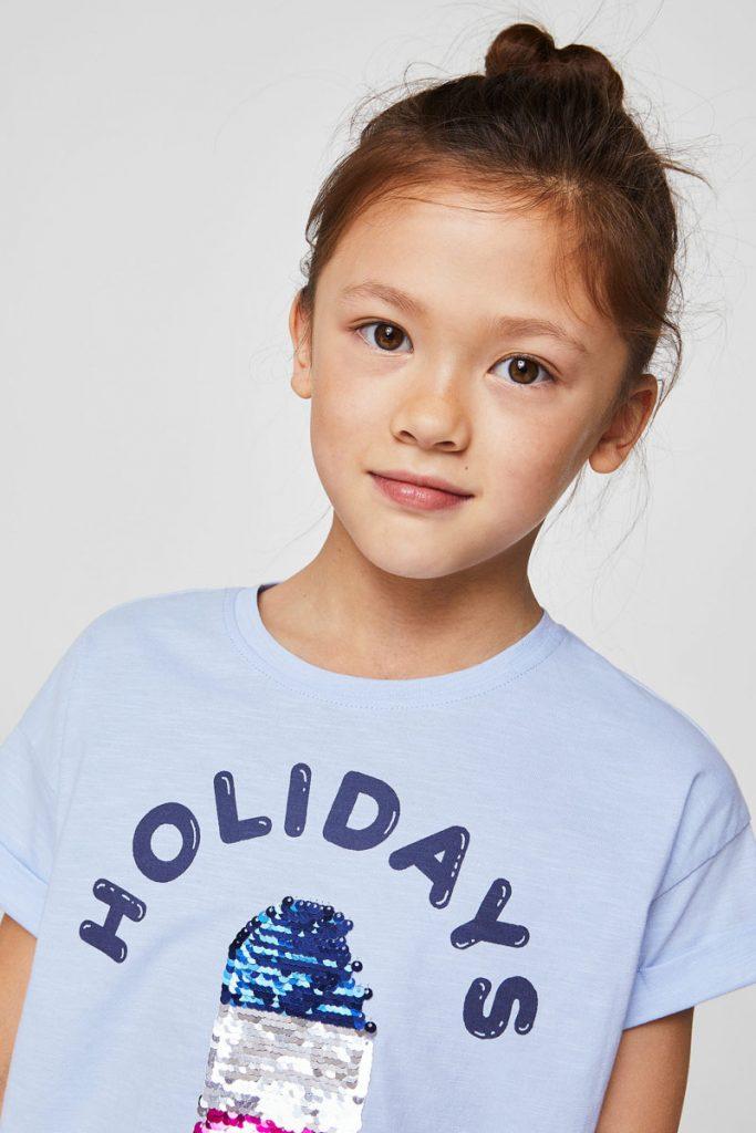 Mango Kids t-shirt à sequins réversibles