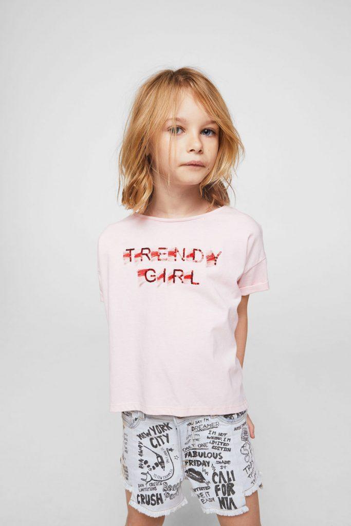 Mango Kids t-shirt à sequins