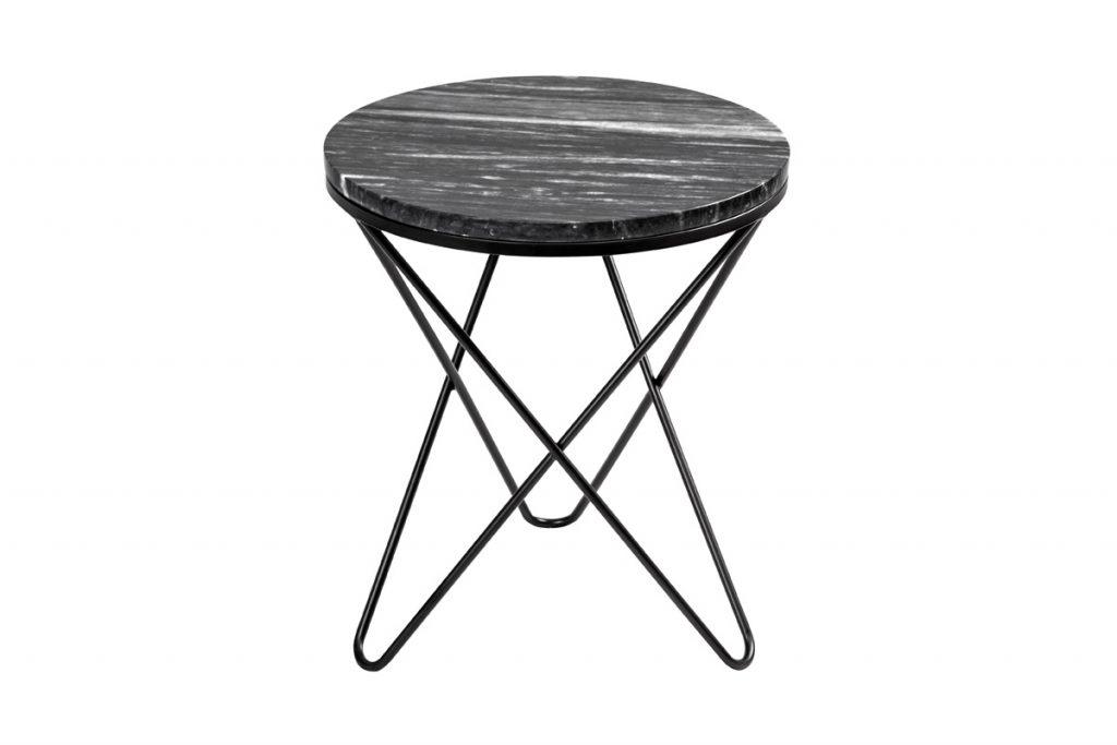 Mobilier & Déco table d'appoint ronde plateau en marbre