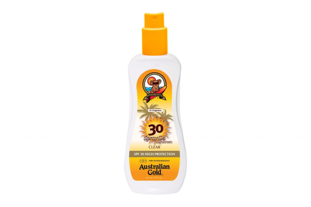 Australian Gold spray gel écran total SPF30