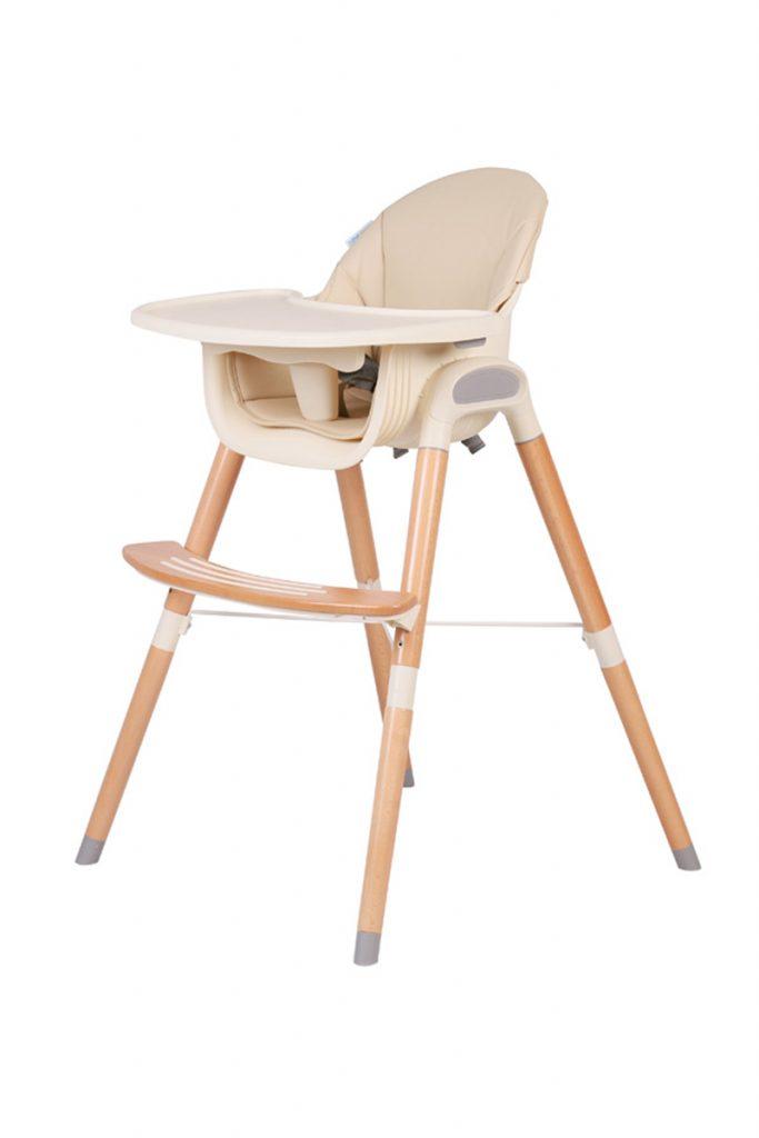 B'Bies chaise évolutive en bois et cuir