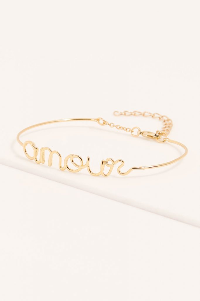 collectionIRL bracelet amour doré à l'or fin