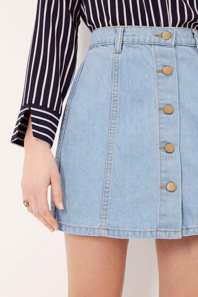 collectionIRL jupe boutonnée jean