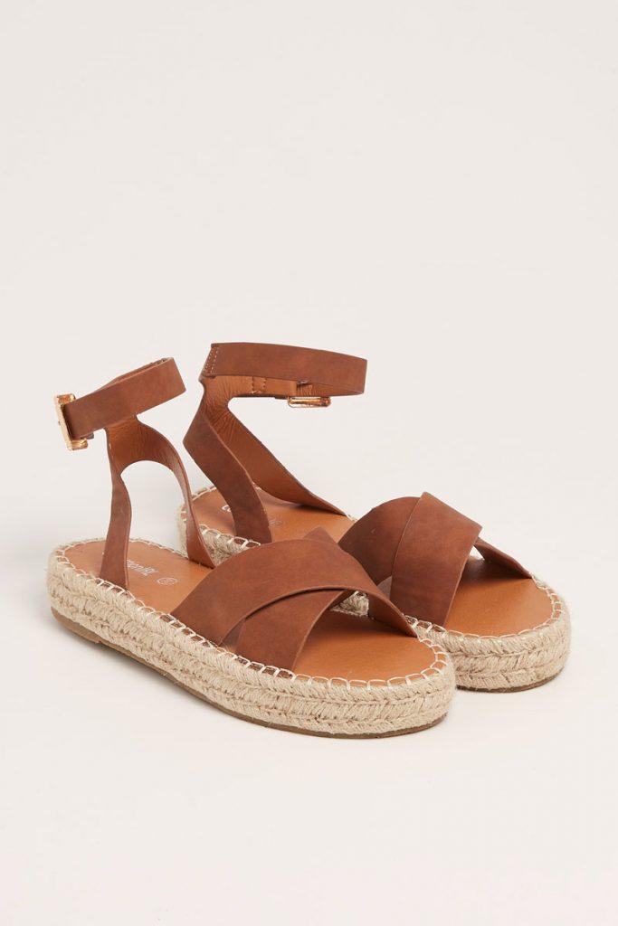 collectionIRL sandales plateformes croisées
