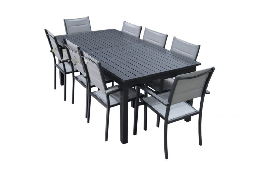 Esprit Jardin table de jardin extensible 8 chaises