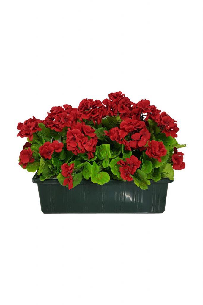 Fleurs artificielles & Co jardinière géranium
