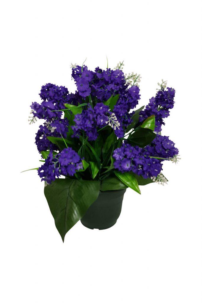 Fleurs artificielles & co lilas pot