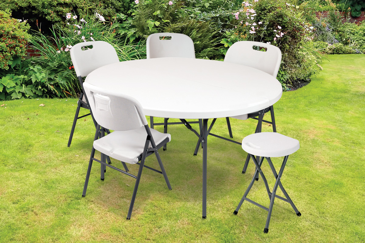 J'aménage ma terrasse 4 chaises pliables