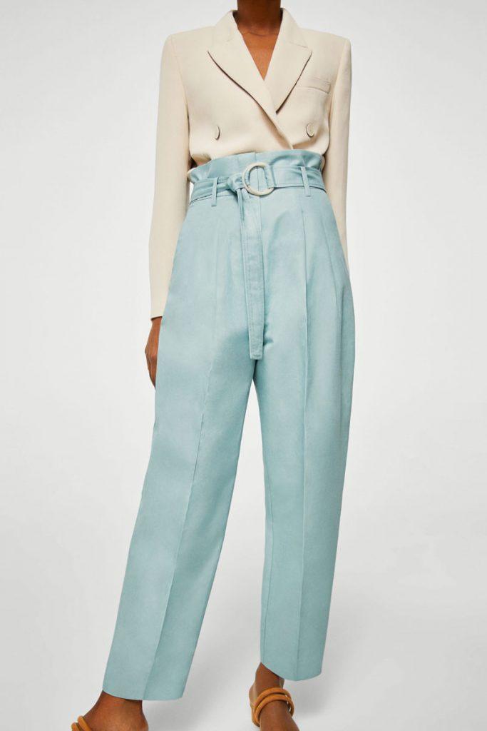 Mango pantalon droit en lin