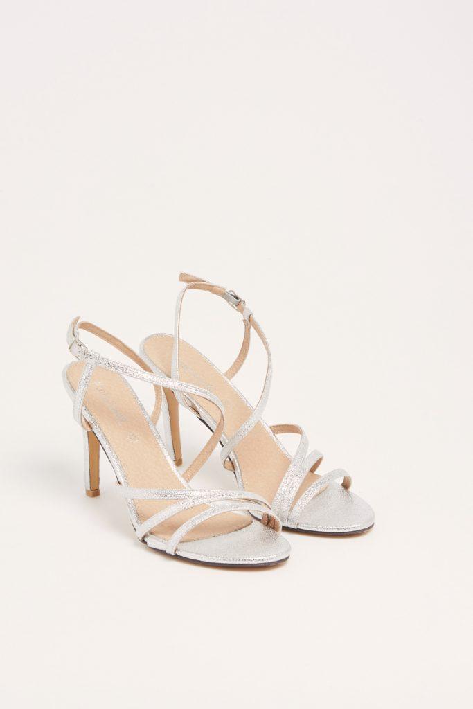 weddingIRL sandales à talons métallisées
