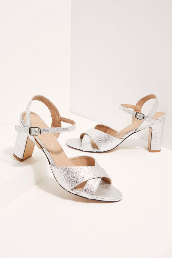 weddingIRL sandales à talons pailletées
