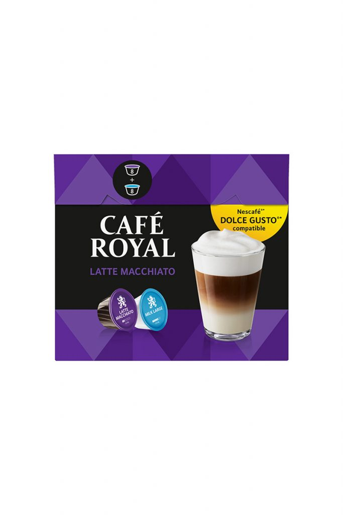 Café royal latte macchiatto