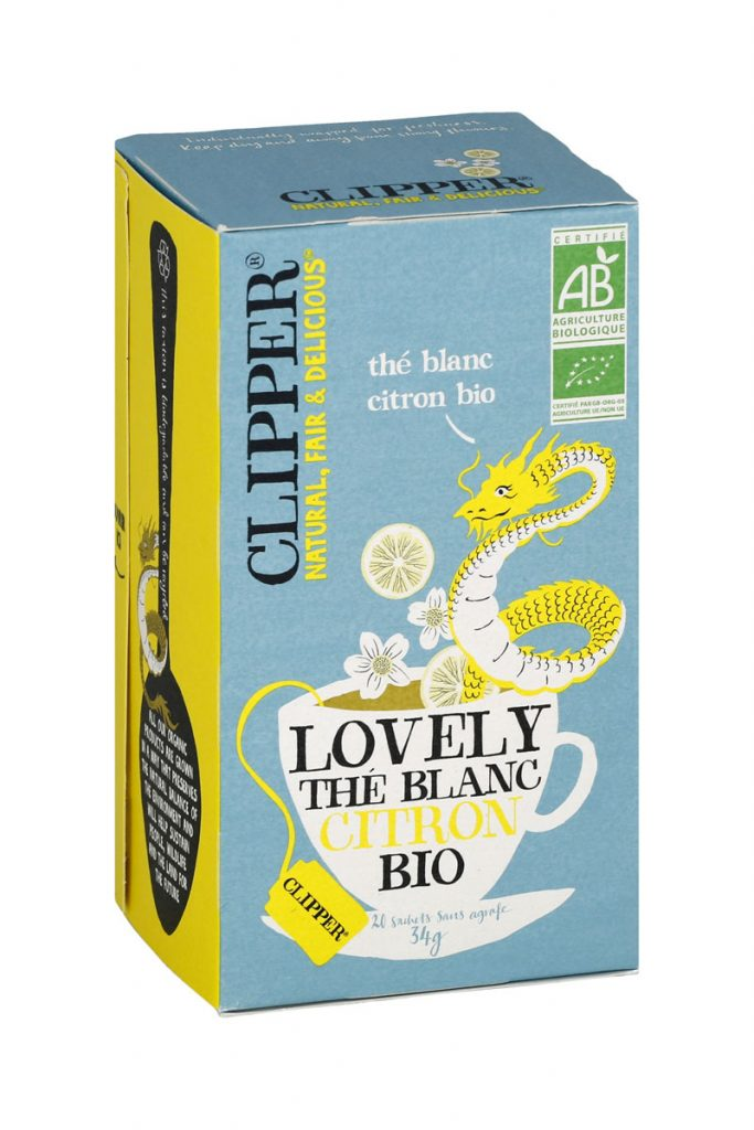 Clipper lovely thé blanc citron bio