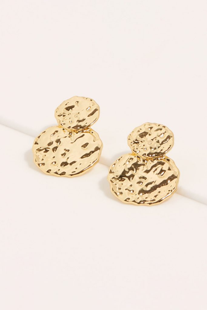 collectionIRL boucles d'oreilles martelées dorées à l'or fin