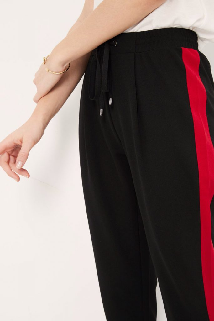 collectionIRL pantalon casual bande côtés