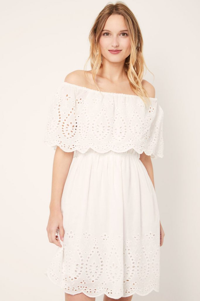 collectionIRL robe broderie anglaise