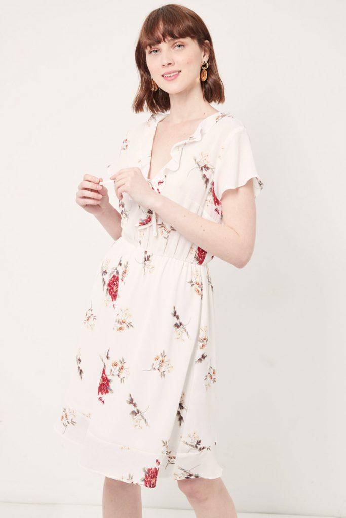 collectionIRL robe mi-longue fleurie