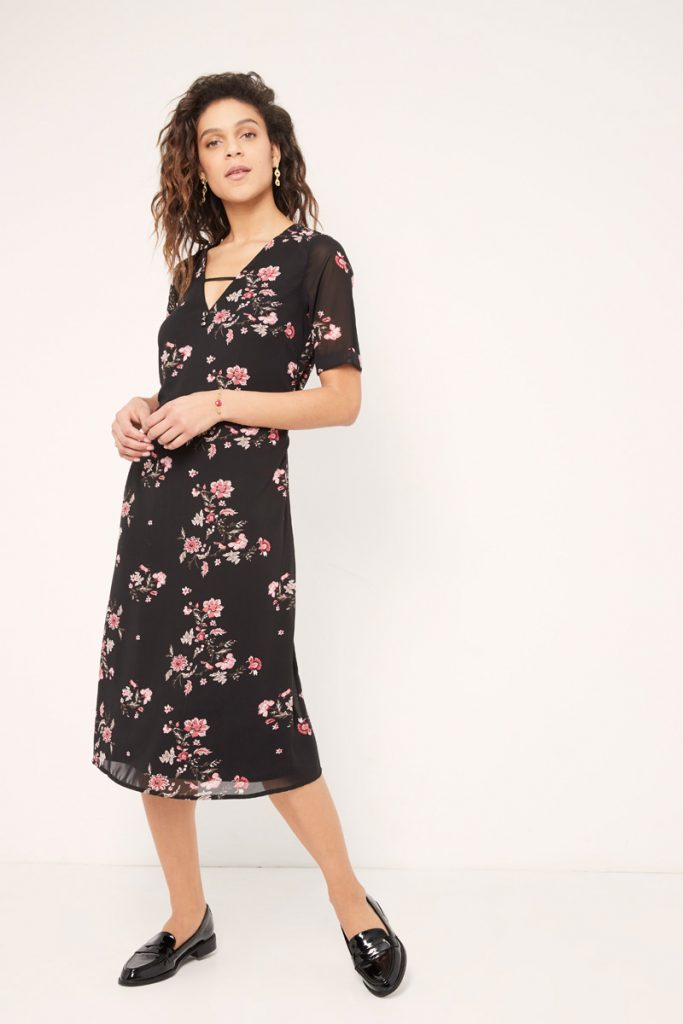 collectionIRL robe midi fleurie