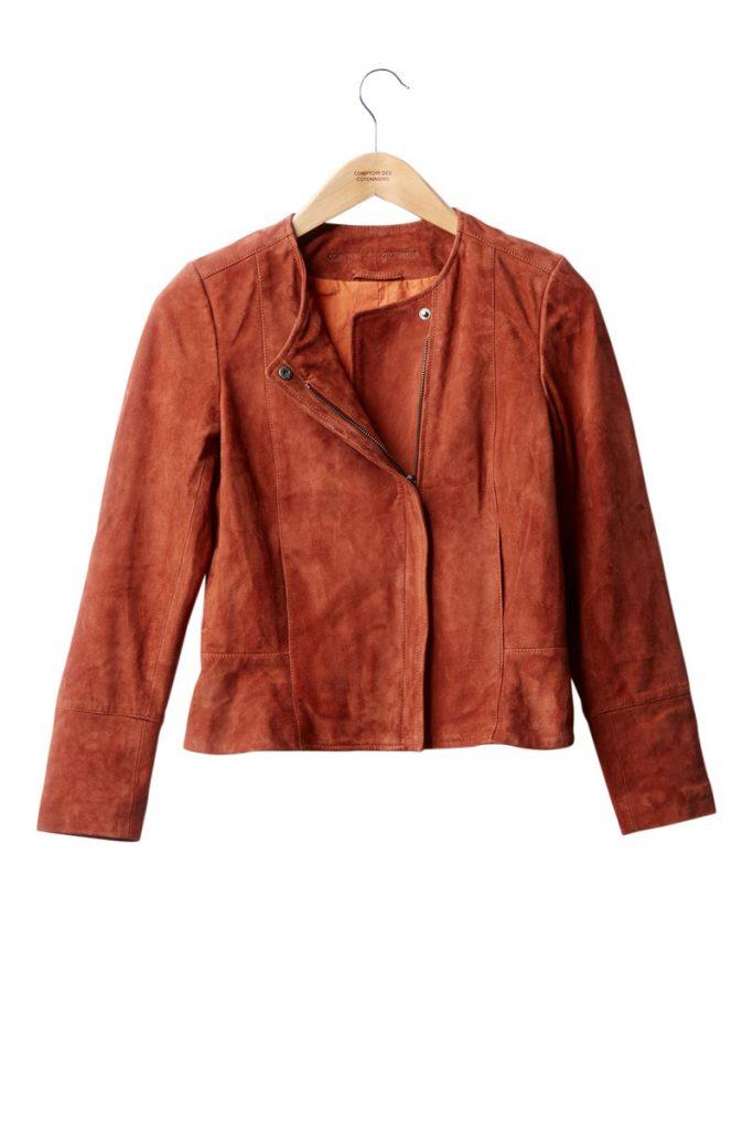 Comptoir des Cotonniers veste en cuir de carpin