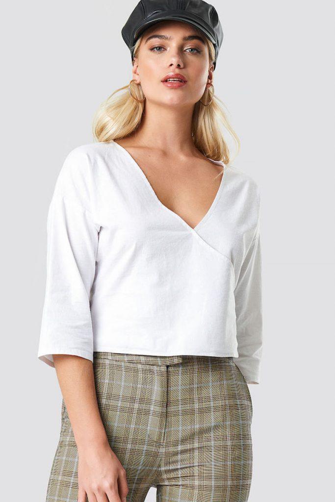 NA-KD blouse en lin