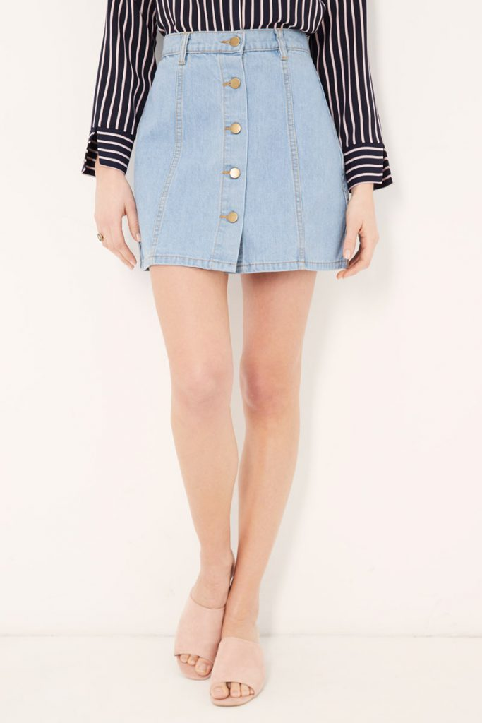 collectionIRL jupe boutonnée en jean