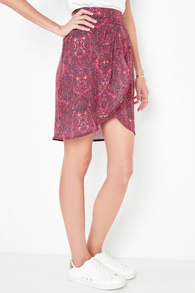 collectionIRL jupe croisée à imprimée