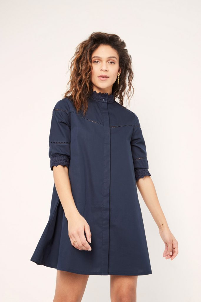 collectionIRL robe chemise brodée