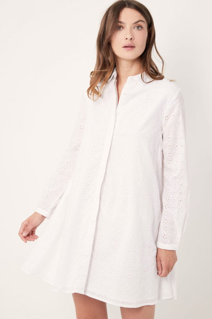 collectionIRL robe chemise en broderie anglaise