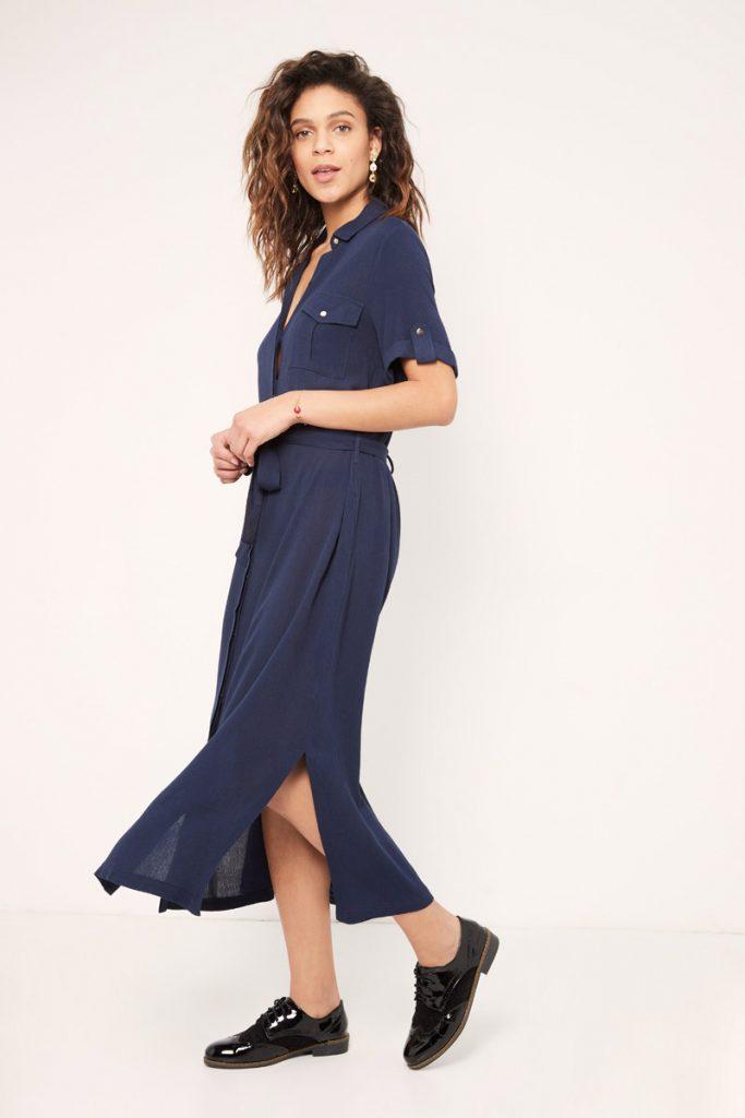 collectionIRL robe chemise longue ceinturée