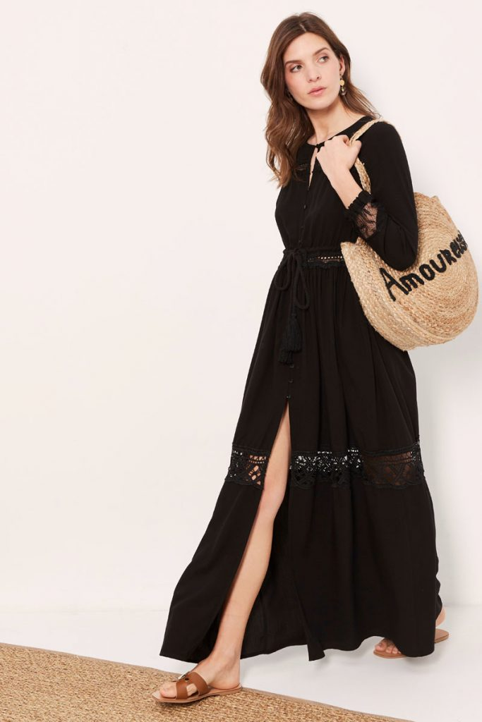 collectionIRL robe longue fendue