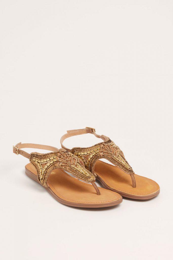 collectionIRL sandales métallisées en cuir