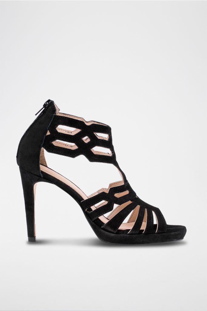 Elodie sandales à talons en nubuck