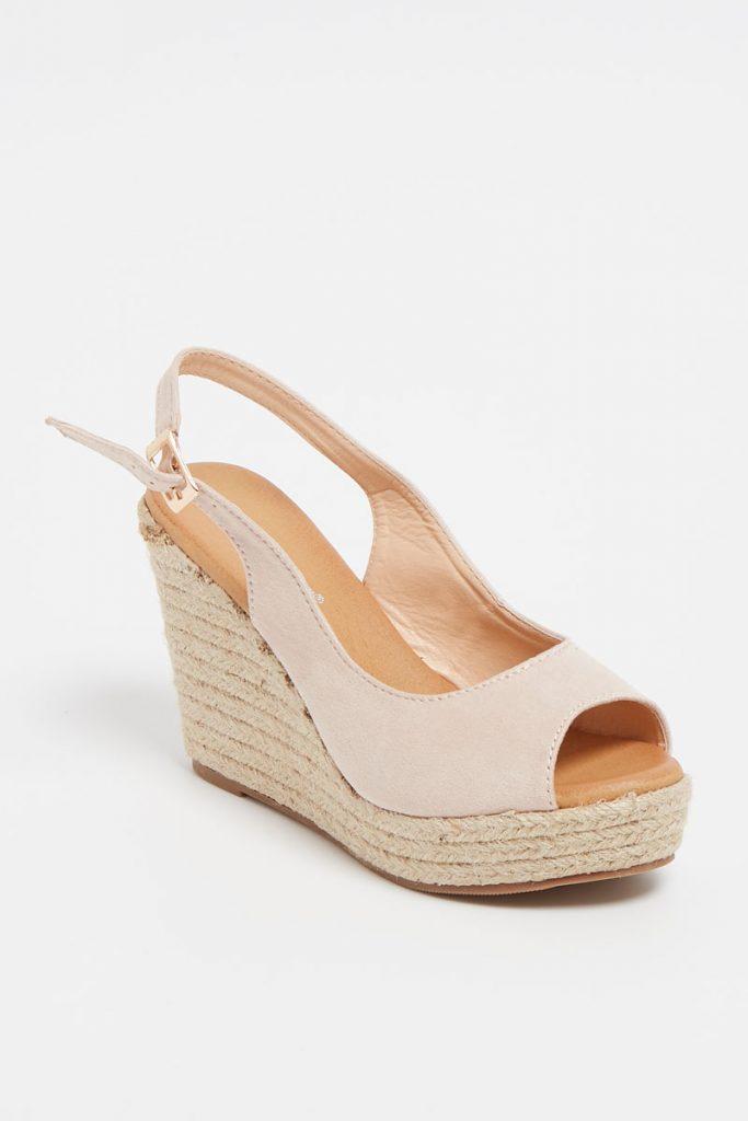 JM Diamant sandales compensées
