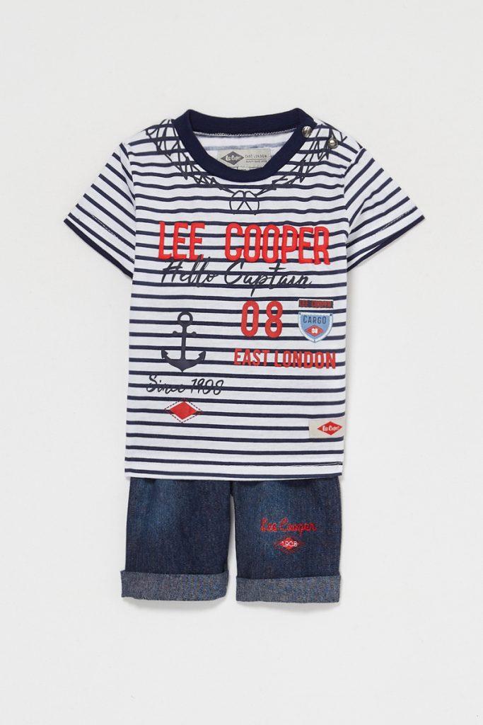 Lee Cooper t-shirt rayé et bermuda