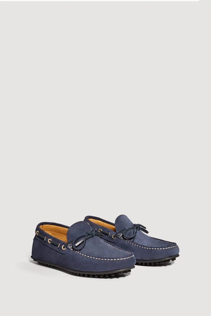 Mango chaussures bateau en nubuck