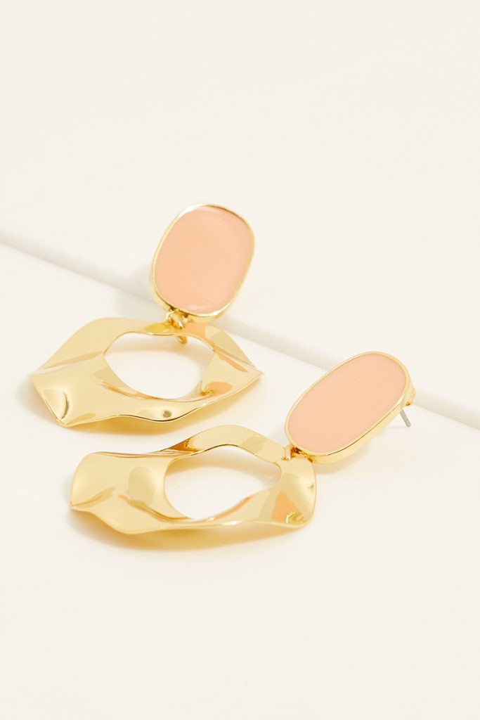 collectionIRL boucles d'oreilles dorées à l'or fin jaune