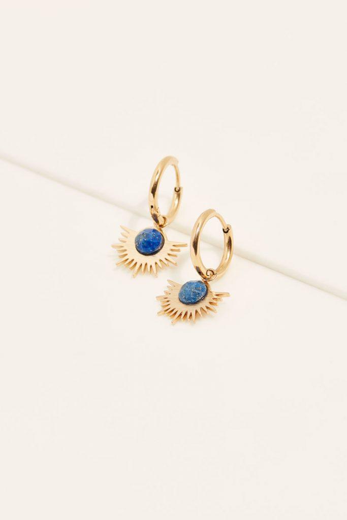 collectionIRL boucles d'oreilles lapis lazuli